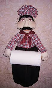 the organizer packet holder paper towel fabric doll chef holder kitchen organizer doll kitchen decor home decor organizer paper towel holder tatadoll