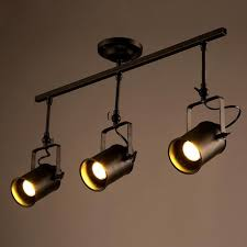 pendant lighting on a track. Loft LED Track Lamp Nordic Retro RH American Industrial Spot Black Ceiling Light Vintage Pendant Lighting On A N