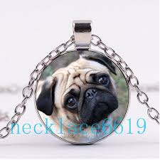 whole pug necklace gift birthday gift cabochon gl necklace silver black chain necklace fashion jewelry r 894 ruby necklace turquoise