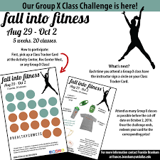 Group Fitness Challenge Tracker Fall Into Fitness Group X Class Challenge 2016 On Behance
