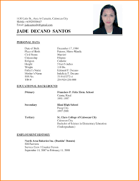 Best Bar Back Resume Contemporary Simple Resume Office Templates