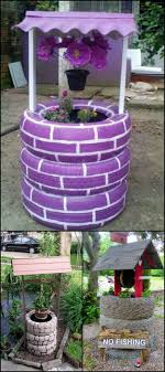 Make a wish in your own garden with this wishing well planter made from  recycled tires