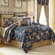croscill classics calice 4 pc queen comforter set navy multi
