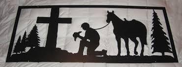 wall art praying cowboy on praying cowboy metal wall art with wall art morning star s metal creations