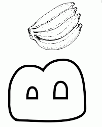 Coloring Page Letter B Banana