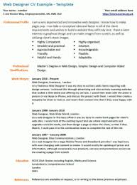 Cv Example Web Designer Icover Org Uk