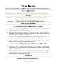 resume sample for hotel receptionist hotel receptionist resume sample