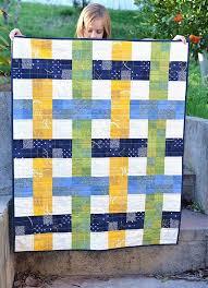 Best 25+ Easy baby quilt patterns ideas on Pinterest | Baby quilt ... & Woven Baby Quilt (Kitchen Table Quilting) Adamdwight.com
