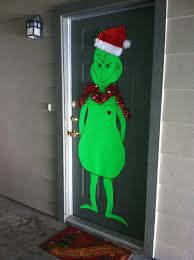 grinch christmas door decorating ideas
