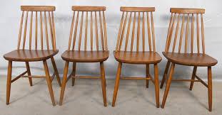 teak retro furniture. set of four teak retro 1960u0027s stickback dining chairs furniture s