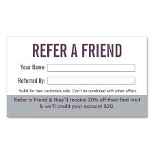 Free Refer A Friend Template Referral Program Example Card