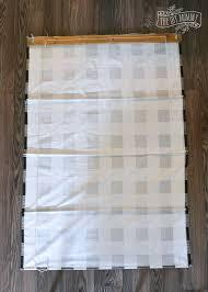 how to make a diy roman shade