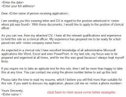 Clerical Officer Job Application Letter Example Learnist Ideas