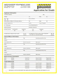 Credit Application For Rental Equipment Rental Credit Application To Rent Excavators In Ny Rent
