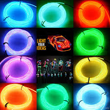 Neon Rope Lights For Sale 2015 Hot 5m Flexible Neon Led Light Glow El Wire String Strip Rope Tube Car Dance Party Controller Decorative Strip Lights N687 Connecting Led Strips