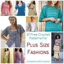 Plus Size Patterns Best 48 Free Crochet Patterns For Tops Tunics And Sweaters Available In