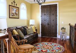 company c rugs with mediterranean family room and white casing round area rug wood floor my houzz chandelier