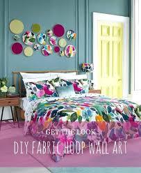 fabric wall art diy get the look fabric hoop wall art fabric panel wall art diy