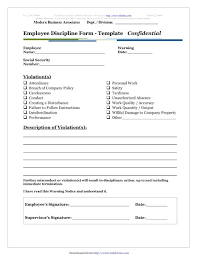 Employee Disciplinary Write Up Work Performance Write Up Template Employee Form Buildingcontractor Co