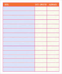 Chore Chart Editable Template Chore Chart Template 15 Free Pdf Word Documents Download