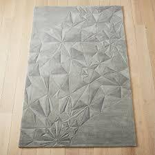 refract grey geometric rug