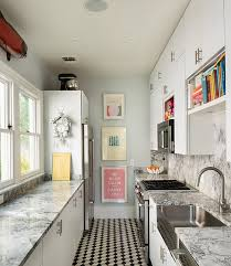 Superb View In Gallery Decorating Idea For A Small And Narrow Kitchen