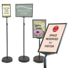 Floor sign holders | Free standing poster stands | Sign-Holders.co.uk