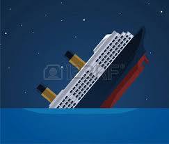 Image result for sinking ship
