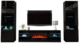 boston 01 electric fireplace modern