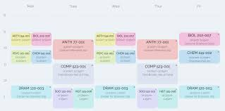 Online Course Schedule Planner Coursicle Plan Your Schedule And Get Into Classes