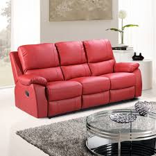 red leather reclining sofa. Red Reclining Sofa Recliner Sofas Leather Andred S