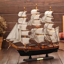 Boat Decor Accessories Magnificent Home Decoration Accessories Wooden Sailboat Model Decoration
