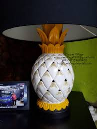 Pineapple Table Lamp Copper Village