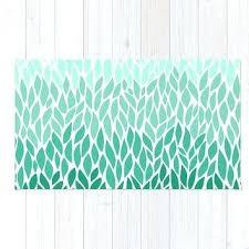 mint green area rug area floor rug teal green leaf design mint mint color area rugs
