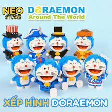 Xếp hình 3D Doraemon siêu dễ thương, cỡ nhỏ - xếp hình trí tuệ