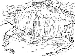 Waterfall 6 Nature Printable Coloring Pages