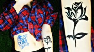 как сделать татуировку на месяц покупная тату Vs самодельная Janefox