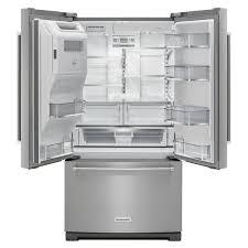Kitchen Aid French Door Krff507ebl Kitchenaid 36 268 Cu Ft French Door Refrigerator