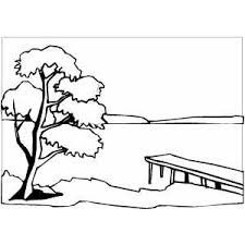 Small Picture Sunset In River Coloring Page