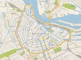 maps of amsterdam  detailed map of amsterdam in english  maps of