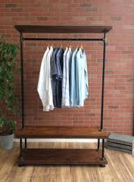 Heavy Duty Coat Rack With Shelf SMALL I Rack Double 100 Furniture by MaverickIndustrial on Etsy 31