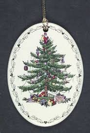 Spode Spode Christmas Tree Miscellaneous Ornaments Oval, Garland, No Date -  Boxed