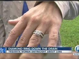 tequesta woman s ring slips into bathtub drain