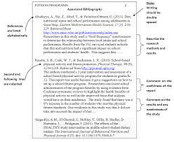 An Example Format of Creating APA Annotated Bibliographies Template Template net