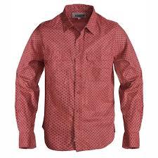 schott men s long sleeve cotton rust shirt