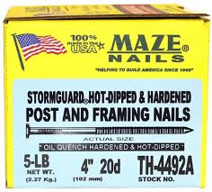 maze nails 4 20d hot dipped galvanized post frame nail 5 lb
