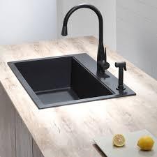 Kraus Kgd412b 31 Inch Dual Mount Single Bowl Granite Kitchen Sink