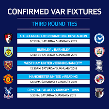 There are no fixtures for the specified dates. Third Round Fixtures With Var Read The Emirates Fa Cup Facebook
