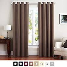 brown blackout curtains. Vangao Brown Blackout Curtains Room Darkening Thermal Insulated Solid Grommet Top Window Draperies/Drapes/ W