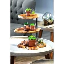 rustic 3 tier stand 3 tier wood stand union rustic 3 tier swivel wood serving tray